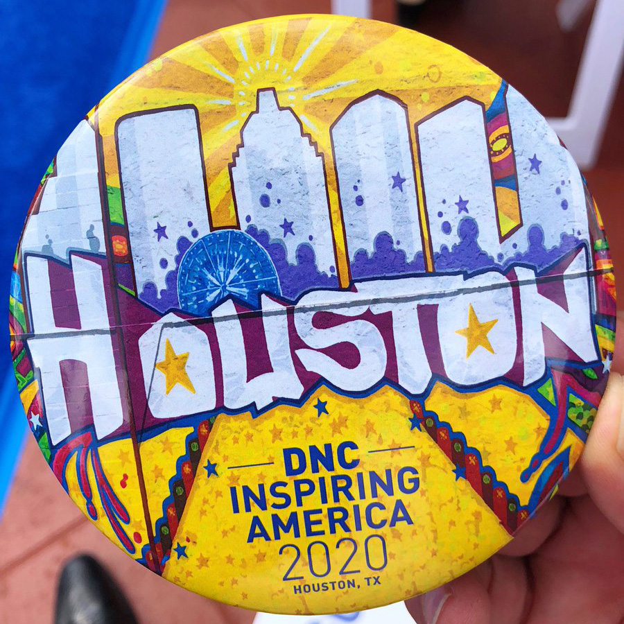 Houston DNC 2020 Mural Button