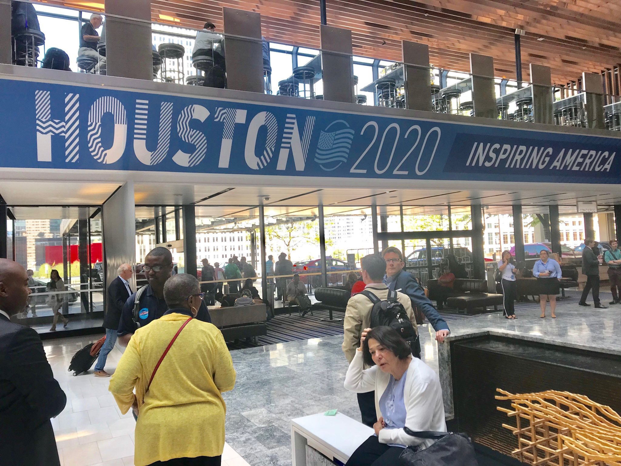 Houston DNC 2020 Striped Text